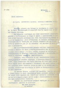 Carteggio relativo al'acquisto del Comune di Forte Belvedere, 1927
